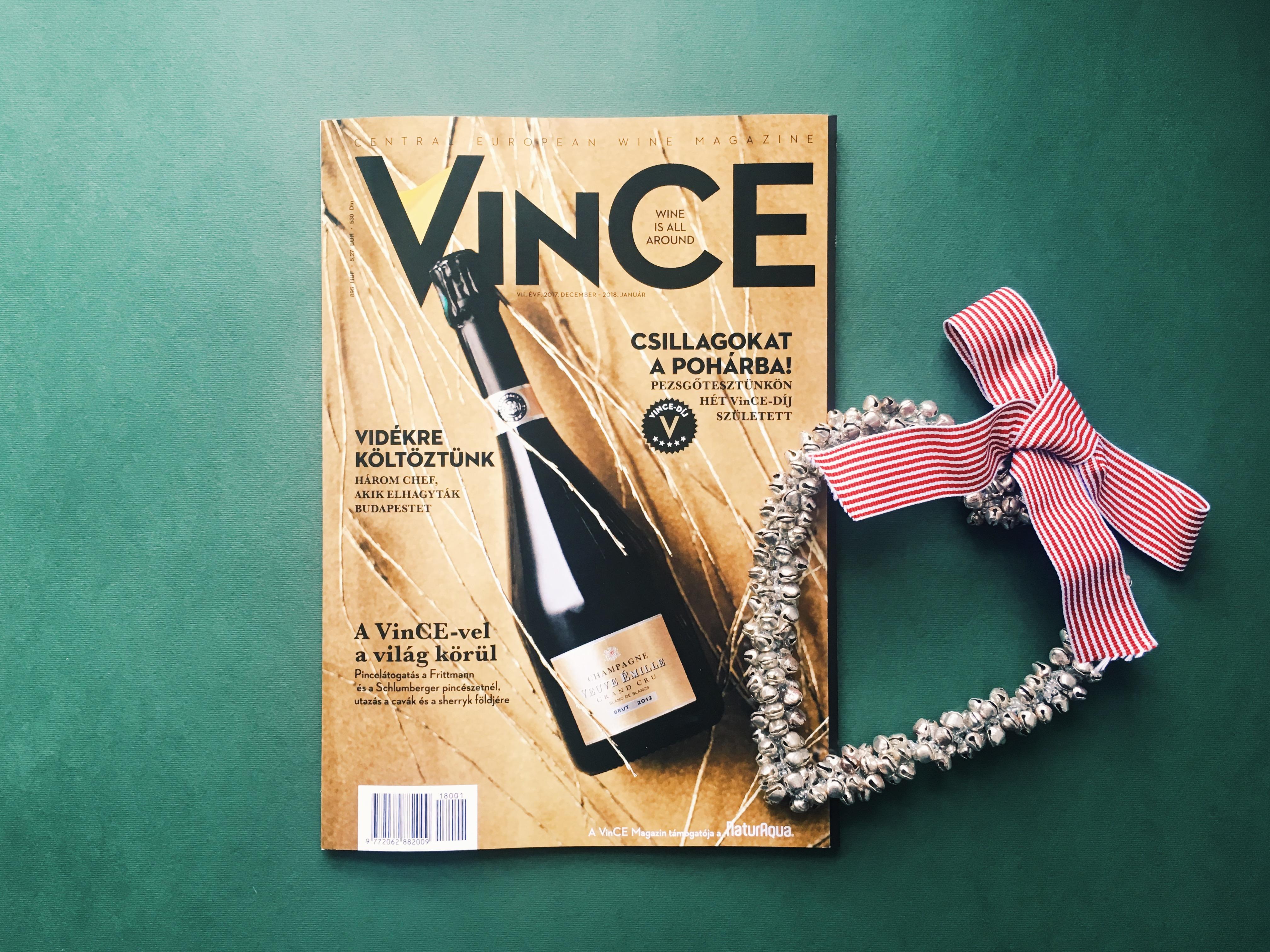 Ok az ünneplésre: itt a VinCE decemberi-januári száma!