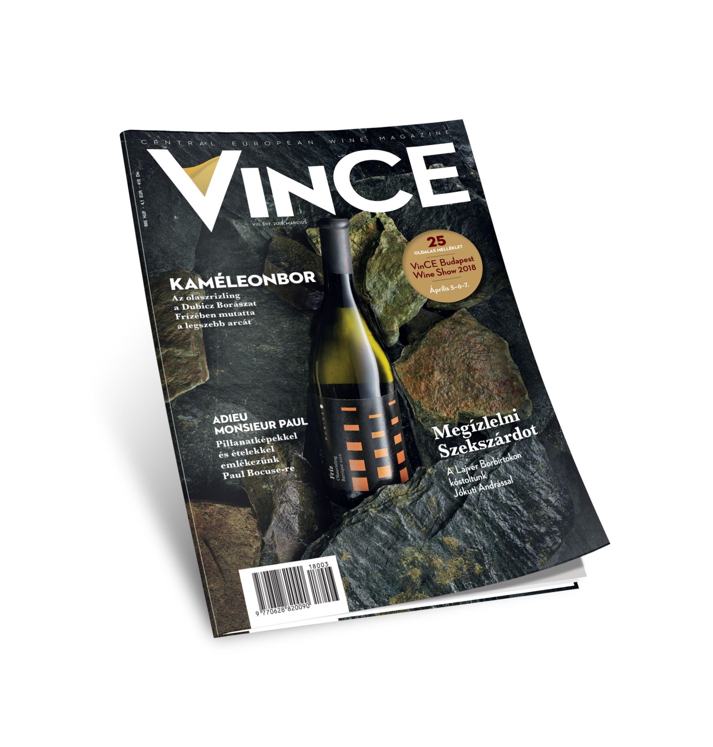 A tavasszal együtt megérkezett a VinCE Magazin márciusi száma is!